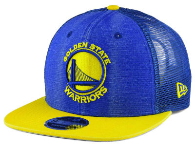 Golden State Warriors New Era NBA Rugged Trucker Adjustable Cap