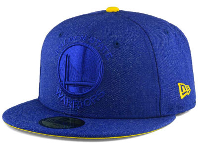 Golden State Warriors New Era NBA Jumbo Heather Fitted 59FIFTY Cap