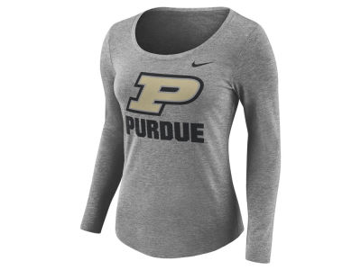 Purdue Boilermakers Nike NCAA Women's Tri Blend Logo T-Shirt