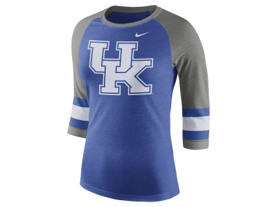 Kentucky Wildcats Nike NCAA Women's Team Stripe Logo Raglan T-shirt