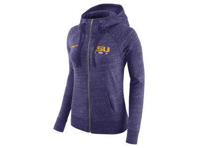 LSU Tigers Nike NCAA Women's Gym Vintage Full-Zip Hoodie