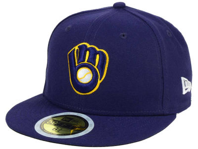 Milwaukee Brewers New Era MLB Authentic Collection 59FIFTY Cap