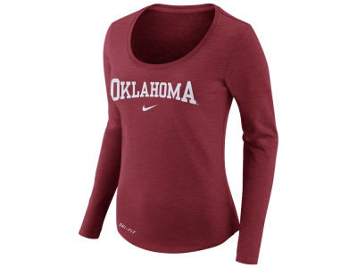 Oklahoma Sooners Nike NCAA Women's Dri Fit Slub Long Sleeve T-Shirt
