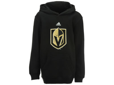 Vegas Golden Knights adidas NHL Youth Primary Logo Hooded Sweatshirt
