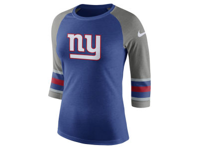 New York Giants Nike NFL Women's Stripe Raglan Triblend T-Shirt