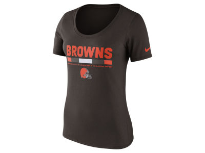 Cleveland Browns Nike NFL Women's Cotton Team Scoop T-Shirt