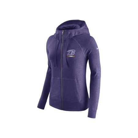 Baltimore Ravens Nike NFL Women's Gym Vintage Full Zip Hoodie
