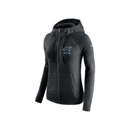 Carolina Panthers Nike NFL Women's Gym Vintage Full Zip Hoodie