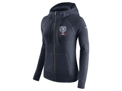 Chicago Bears Nike NFL Women's Gym Vintage Full Zip Hoodie