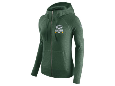 Green Bay Packers Nike NFL Women's Gym Vintage Full Zip Hoodie