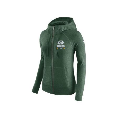 Green Bay Packers Nike NFL Women's Gym Vintage Full Zip Hoodie