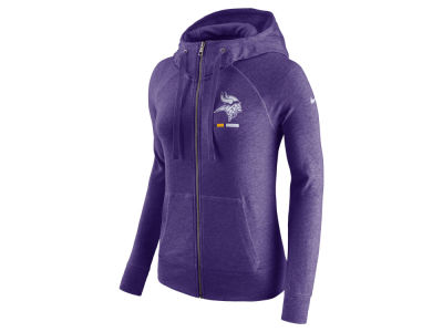 Minnesota Vikings Nike NFL Women's Gym Vintage Full Zip Hoodie