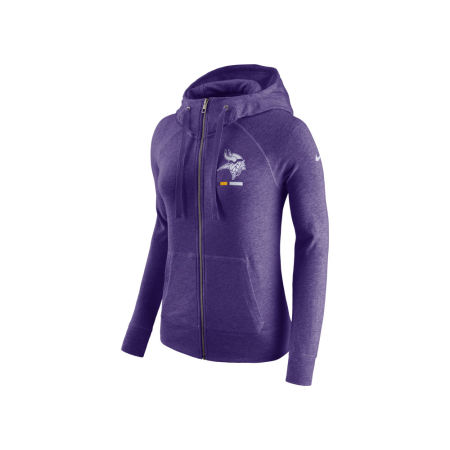 Minnesota Vikings Nike NFL Women's Gym Vintage Full Zip Hoodie
