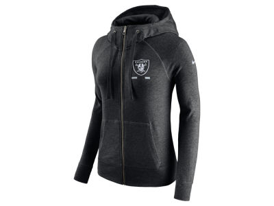 Oakland Raiders Nike NFL Women's Gym Vintage Full Zip Hoodie