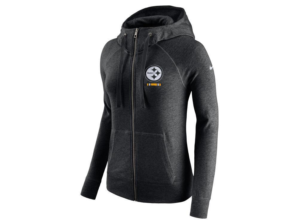 4713890de Pittsburgh Steelers Nike NFL Women s Gym Vintage Full Zip Hoodie ...