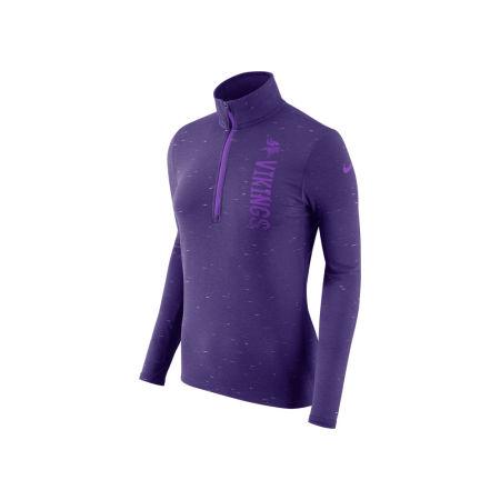 Minnesota Vikings Nike NFL Women's Element Quarter Zip Pullover