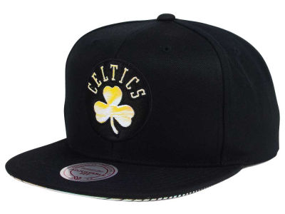 Boston Celtics Mitchell & Ness NBA Orange Gaze Snapback Cap