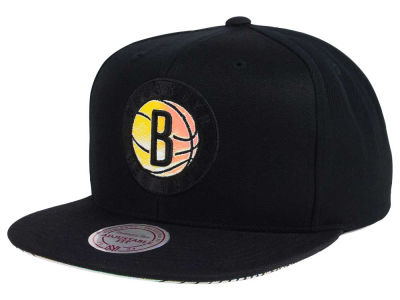 Brooklyn Nets Mitchell & Ness NBA Orange Gaze Snapback Cap