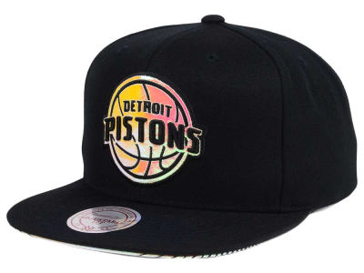 Detroit Pistons Mitchell & Ness NBA Orange Gaze Snapback Cap