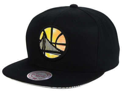 Golden State Warriors Mitchell & Ness NBA Orange Gaze Snapback Cap
