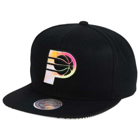Indiana Pacers Mitchell & Ness NBA Orange Gaze Snapback Cap
