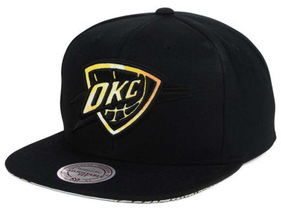 Oklahoma City Thunder Mitchell & Ness NBA Orange Gaze Snapback Cap