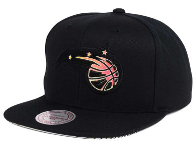 Orlando Magic Mitchell & Ness NBA Orange Gaze Snapback Cap