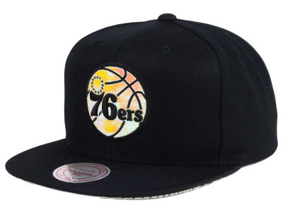 Philadelphia 76ers Mitchell & Ness NBA Orange Gaze Snapback Cap