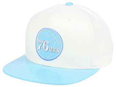Philadelphia 76ers Mitchell & Ness NBA Powder Blue 2T Snapback Cap