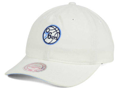 Philadelphia 76ers Mitchell & Ness NBA Powder Blue Dad Hat Strapback