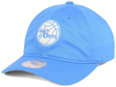 Philadelphia 76ers Mitchell & Ness NBA Powder Soft Span Dad Hat