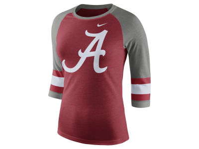 Alabama Crimson Tide Nike NCAA Women's Team Stripe Logo Raglan T-shirt