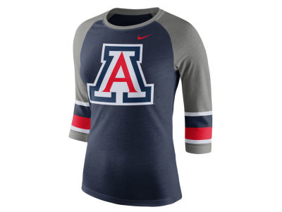 Arizona Wildcats Nike NCAA Women's Team Stripe Logo Raglan T-shirt