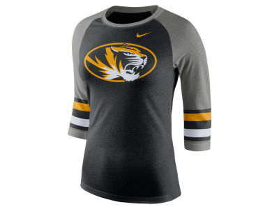 Missouri Tigers Nike NCAA Women's Team Stripe Logo Raglan T-shirt