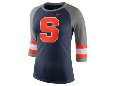 Syracuse Orange Nike NCAA Women's Team Stripe Logo Raglan T-shirt
