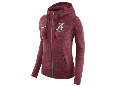Alabama Crimson Tide Nike NCAA Women's Gym Vintage Full-Zip Hoodie