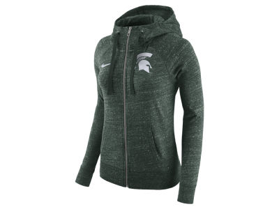 Michigan State Spartans Nike NCAA Women's Gym Vintage Full-Zip Hoodie