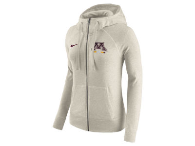 Minnesota Golden Gophers Nike NCAA Women's Gym Vintage Full-Zip Hoodie