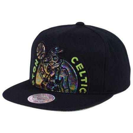 Boston Celtics Mitchell & Ness Oil Cropped Snapback Cap