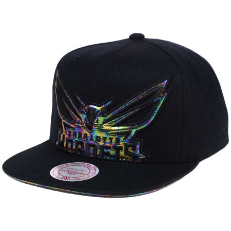 Charlotte Hornets Mitchell & Ness Oil Cropped Snapback Cap
