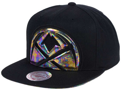 Denver Nuggets Mitchell & Ness Oil Cropped Snapback Cap