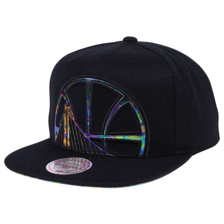 Golden State Warriors Mitchell & Ness Oil Cropped Snapback Cap
