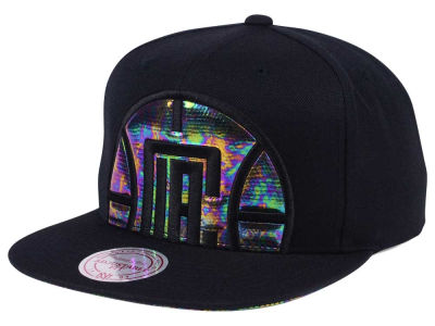 Los Angeles Clippers Mitchell & Ness Oil Cropped Snapback Cap