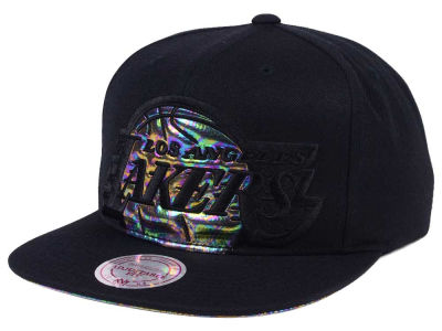 Los Angeles Lakers Mitchell & Ness Oil Cropped Snapback Cap