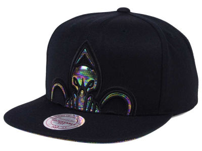 New Orleans Pelicans Mitchell & Ness Oil Cropped Snapback Cap