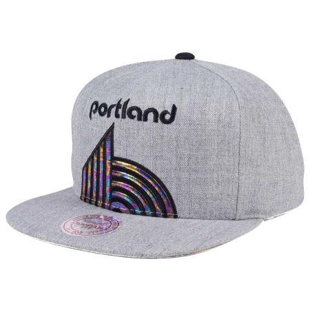 Portland Trail Blazers Mitchell & Ness Oil Cropped Snapback Cap