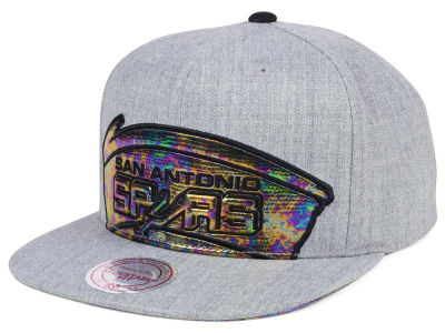 San Antonio Spurs Mitchell & Ness Oil Cropped Snapback Cap