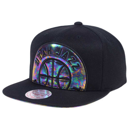 Utah Jazz Mitchell & Ness Oil Cropped Snapback Cap