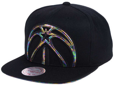 Washington Wizards Mitchell & Ness Oil Cropped Snapback Cap