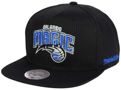 Orlando Magic Mitchell & Ness NBA Black Ripstop Honeycomb Snapback Cap